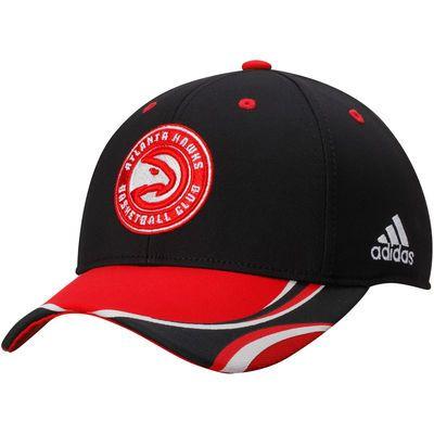 Men's Atlanta Hawks adidas Black Energy Stripe Structured Adjustable Hat