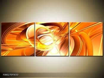 Tablouri abstracte - Cu trei componente 90x30 cm - TopTablouri.ro