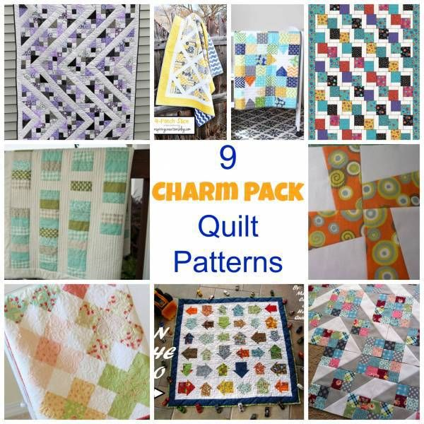 9 Charm Pack Quilt Patterns-by Larissa Coleman. Do you use precuts in your quilting projects?  They are so convenient and come in so many cleverly named sizes, and the charm pack is no exception.  While you may pay a little more for your precut fabrics, some think the convenience is well worth the extra pennies.  What do you think?   Here are 9 patterns that are charm pack friendly.