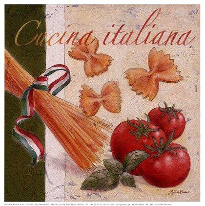 Cucina Italiana by Bjorn Baar art print