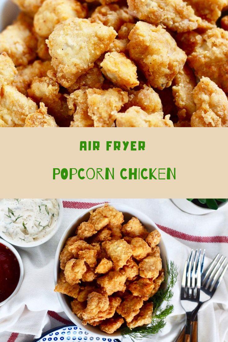 AIR FRYER POPCORN CHICKEN Popcorn chicken, Bbq recipes