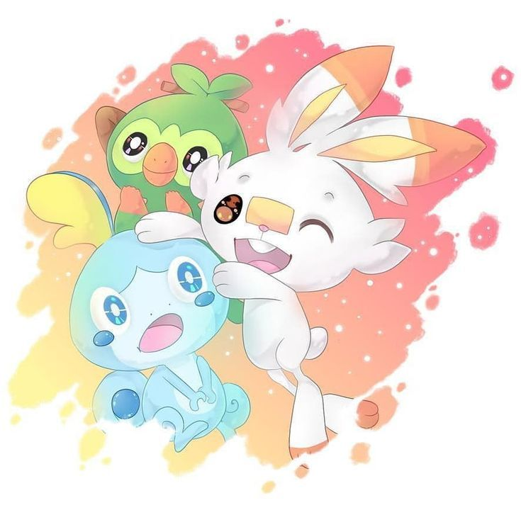 I M Loving All The Fan Art For The New Pokemon Sword And Shield Starters They Re So Adorable Pokemon Starters Pokemon Pokemon Fan Art