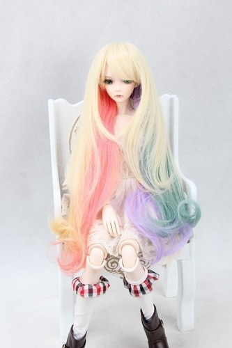 Bjd Doll Hair Wig 8 9 Quot 1 3 Sd Dz Dod Luts Multi Colors Mixed Long Curly