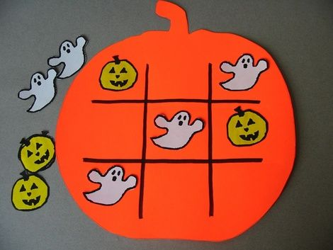 halloween tic tac toe printable game craft preschool halloween craftshalloween arts - Halloween Arts And Crafts For Kids Pinterest