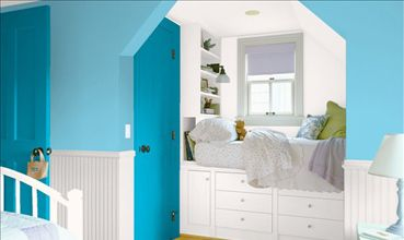 the lighter color is what color I'm painting it,Woodlawn Blue Angel by Valspar