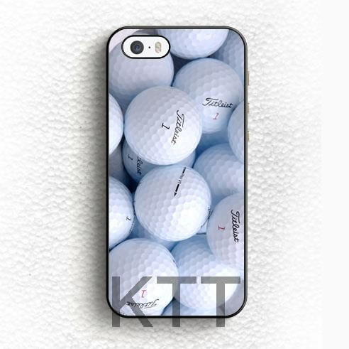 Pallina da golf Stampato Tpu Nero cell phone bags case cover for iphone 4S 5S 5C SE 6S 7 PLUS IPOD Samsung galaxy IPOD HTC SONY