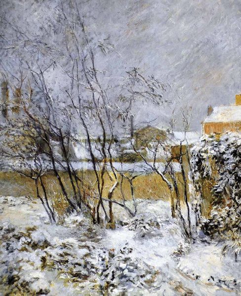 Paul Gauguin - Post Impressionism - Effet de neige - Snow in Carcel Street - 1883