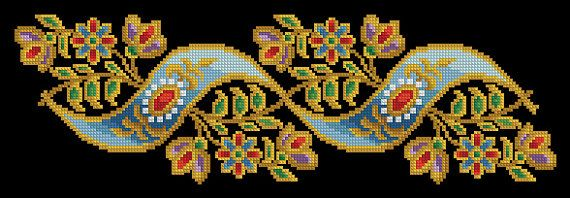 Cross Stitch Antique Tapestry Multicolored Design by MagicOfNeedle