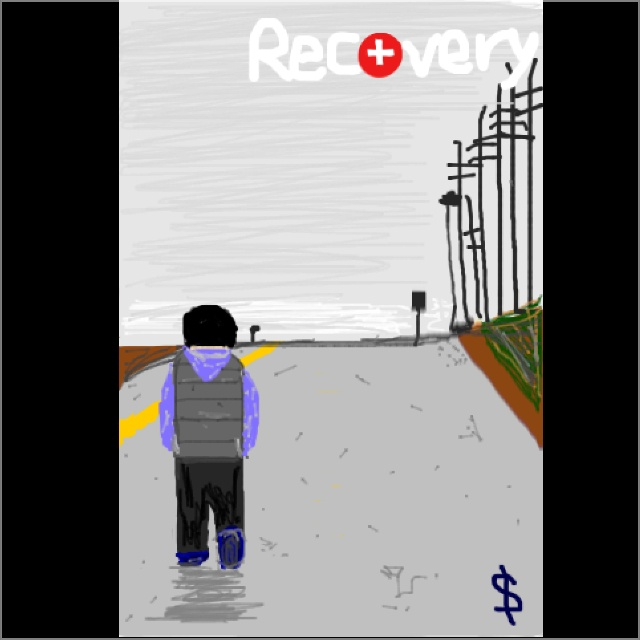 Another piece of art I made on spraycan, it's eminem's recovery album