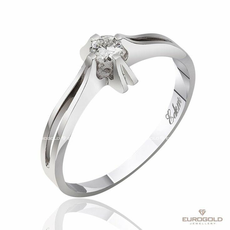 """Золотое кольцо """"Магия кристалла"""" с одним бриллиантом  Металл: золото Цвет металла: белый Пол: женский Вес: 2.00 гр Камень: бриллиант Страна: Украина"""