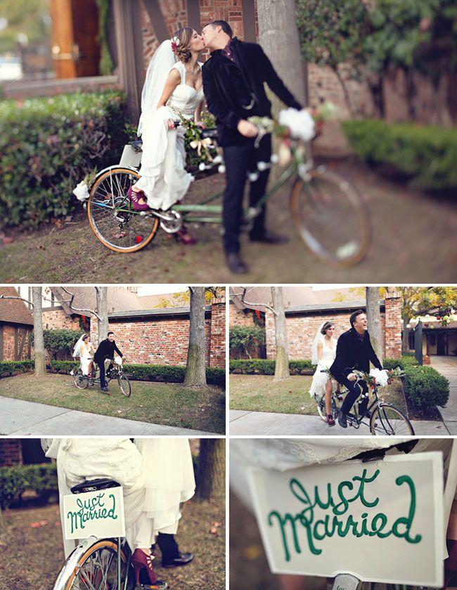 cute wedding picture idea. bikes are so romantic!