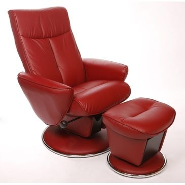 Another great find on Red Leather Selby Swivel Recliner u0026 Ottoman & 17 best groovy den lounge chairs images on Pinterest | Lounge ... islam-shia.org