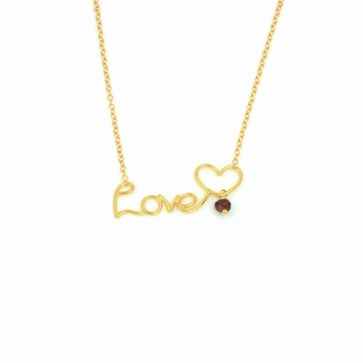 Tess Daly has been loving the Written Love Necklace!