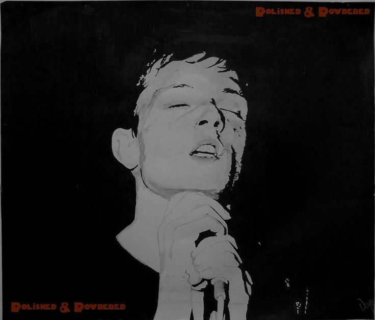 Ian Curtis (high school painting)