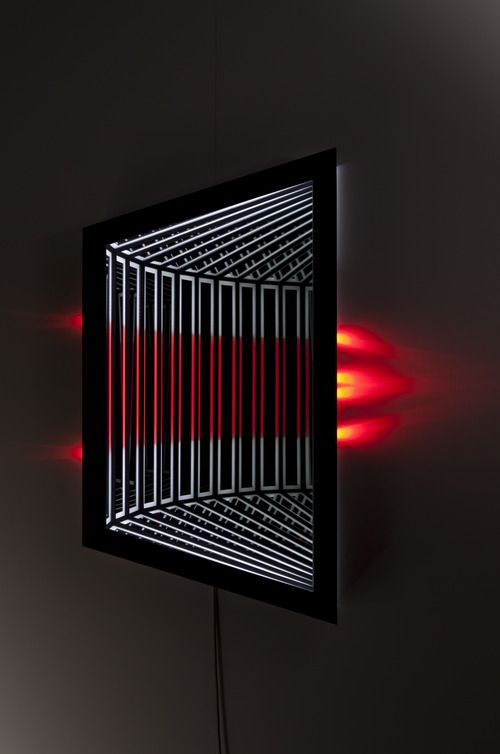 Jason Sims - Refract - Wood, reflective glass, mirror, MDF and LED lights