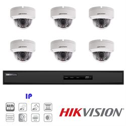 Hikvision IP Security Camera Kit, 8 Channel NVR, 6 x 1080p Dome Cameras