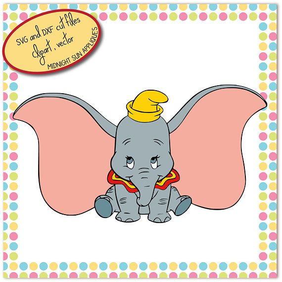 Dumbo SVG DXF clipart dumbo cut file elephant svg svg for