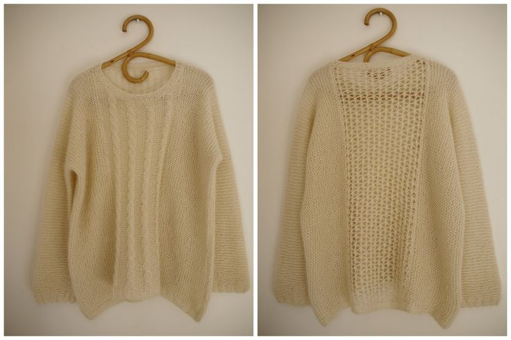 This sweater pattern is in French, but besides that, it looks awesome.