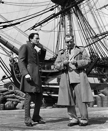 "Oh My Gaiters. Gregory Peck, And Director Raoul Walsh ""Captain Horatio Hornblower"" 1951 Warner Brothers"