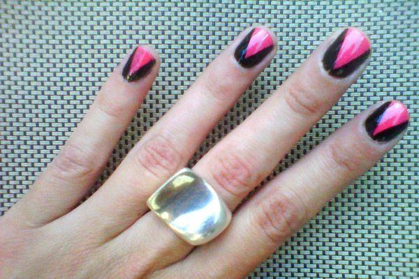 :)Nails Design, Pink Nails, Design Handbags, Summer Nails, Black Nails, Nails Ideas, Nails Polish Design, Nails Art Design, Nails Polish Colors