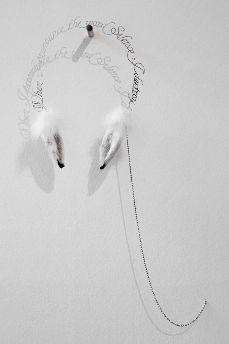When I Pronounce The World Silence, I Destroy It, 2014 by Pekka Jylhä. Steel, hare's ears, 65x40x10 cm, 8900€. Inquiries: sari.seitovirta@seitsemanvirtaa.com / GALERIE SEITSEMÄN VIRTAA.