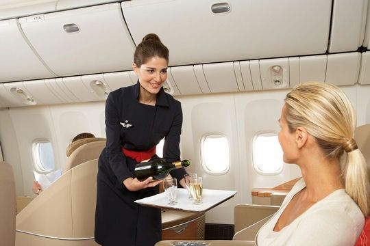 Air France flight attendants wear Christian Lacroix.  Of course they do...