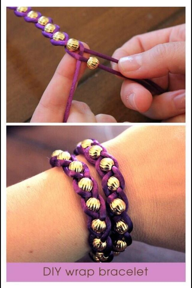 DIY wrap bracelet / easy too