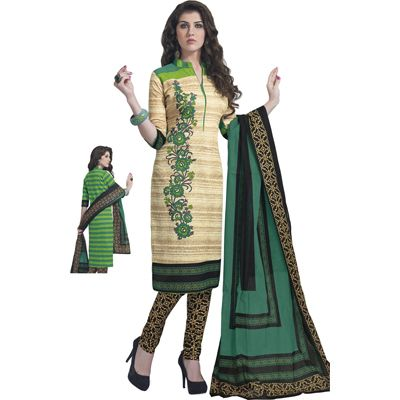 Buy Pari Cream Cotton Dress Material by Agate Business Services Private Limited, on Paytm, Price: Rs.699?utm_medium=pintrest