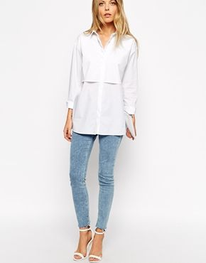 Enlarge ASOS Boyfriend Shirt with Double Layer