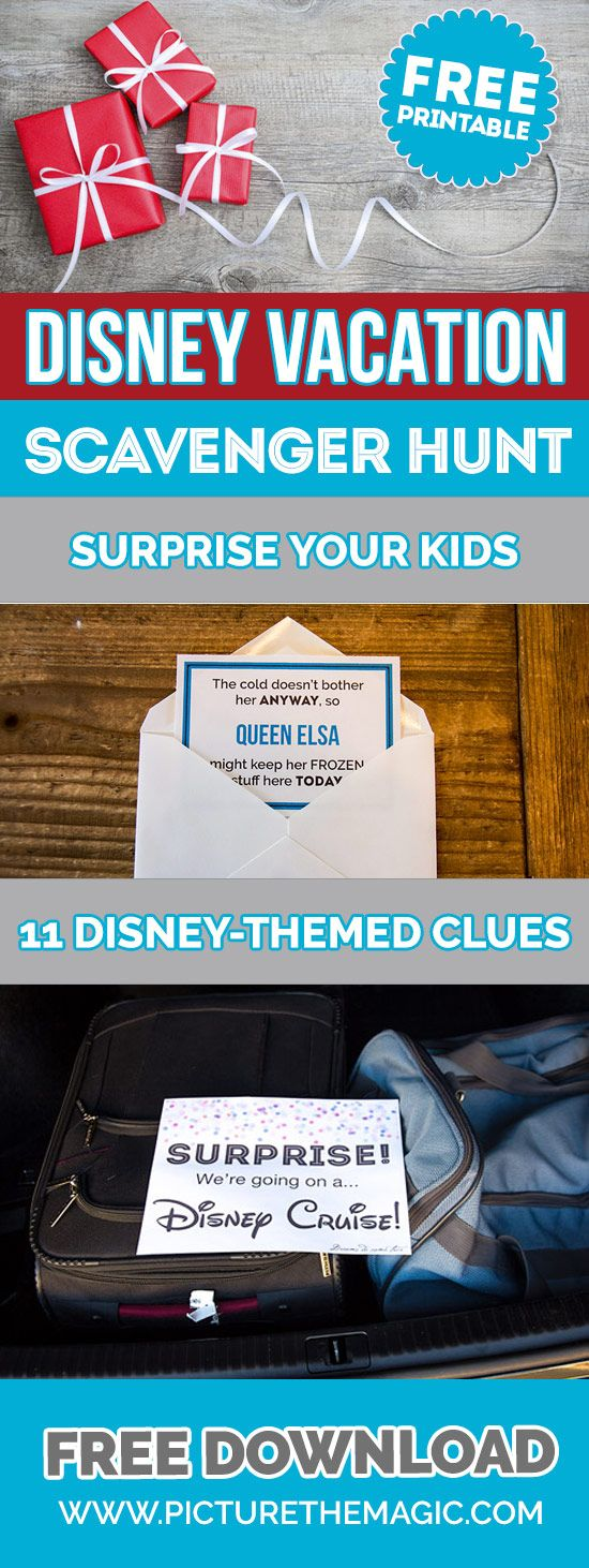 So Fun!! Free Printable: Disney Vacation Scavenger Hunt