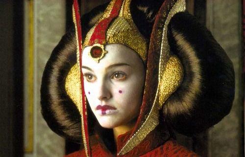 "Natalie Portman as Queen Amidala in ""Star Wars""  http://www.moviesandtvhistoryguy.com/natalie_portman.htm"