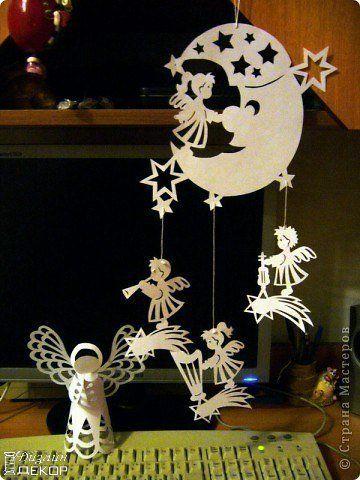 Рождественская подвеска из бумаги фото #1