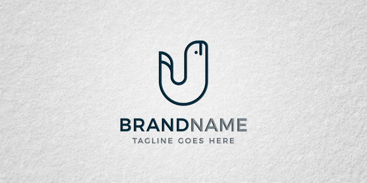 whale letter logo template for sale