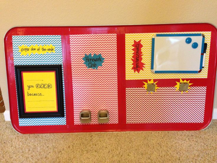 Classroom Magnetic Board Made Out Of Large Oil Drip Pan