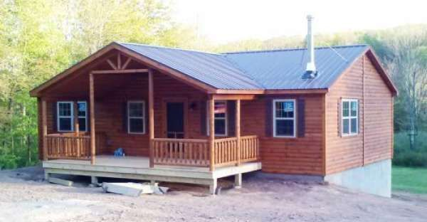 An Affordable Prefab Log Cabin That Has All That You Need to Live Comfortably #prefabaffordable