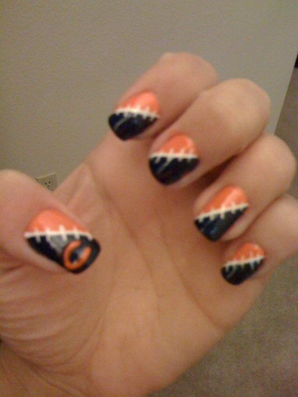 Best 25 football nail designs ideas on pinterest football nail 25 cool football nail art designs prinsesfo Images