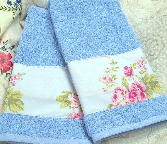 Sweet Blue on Ice Blue Hand Towels   Custom by Sew1Pretty on Etsy, $17.00