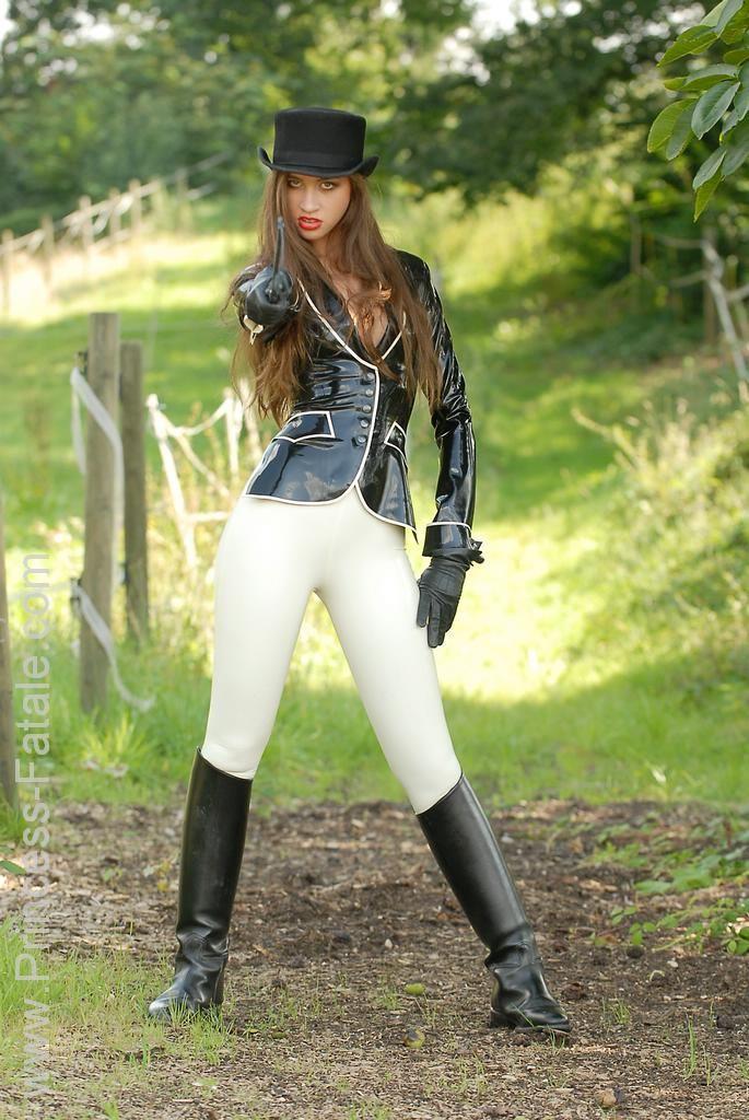Princess Fatale Nikita. Ridding White Latex Jodphurs.   My ...