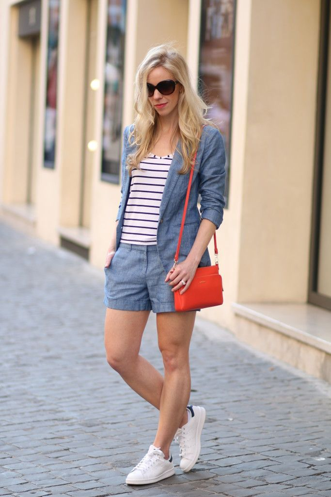 separation shoes a0d20 720dd Chambray Suit: chambray denim blazer and shorts suit, navy ...