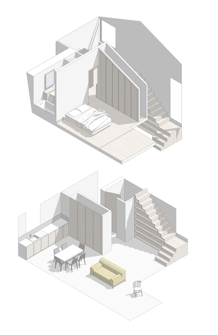 shaded axo from a project by alma-nac collaboative architecture | London