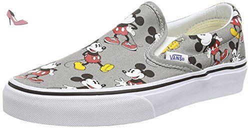 Vans Classic Slip-on, Glisser sur mixte adulte - Gris (Disney - Mickey Mouse/Frost Gray) - 34.5 EU - Chaussures vans (*Partner-Link)