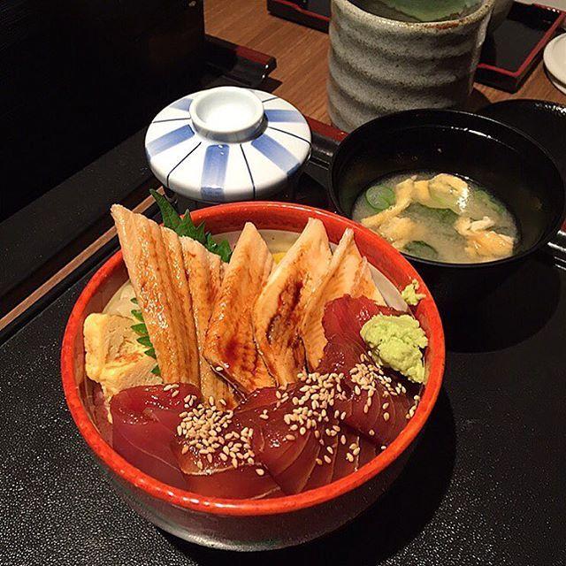 Tuna and unagi don @ Tsukiji Sushi Takewaka.
