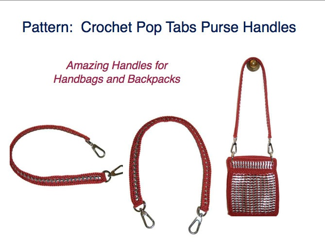PDF PATTERN - How to Crochet a Pop Tab Purse Handle Tutorial. via Etsy.