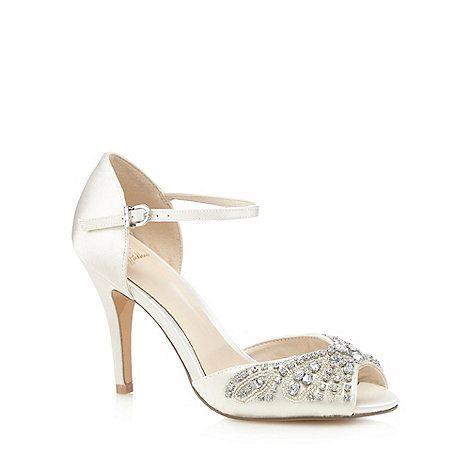 No. 1 Jenny Packham Ivory 'Paris' stone embellished high sandals | Debenhams