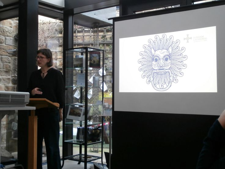 Maya Polenz, Head of Property, Durham Cathedral, lecturing to MA International Cultural Heritage students during the Durham Heritage Workshop at the Durham World Heritage Centre.