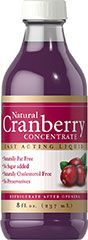 Natural Cranberry Concentrate <p>Our Natural Cranberry Concentrate Liquid is a liquid formula that is naturally free from fat, added sugar, cholesterol and preservatives.  Cranberry Concentrate Liquid gives you 100% natural cranberry concentrate without unnecessary additives or a cocktail taste.  In addition, there's the extra nutritional benefit of proanthocyanidins (condensed tannins) which have been identified in the cranberry fruit.</p>  8 oz Liquid  $17.99