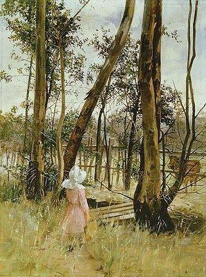 'Obstruction, Box Hill' by Australian Landscape painter Jane Sutherland