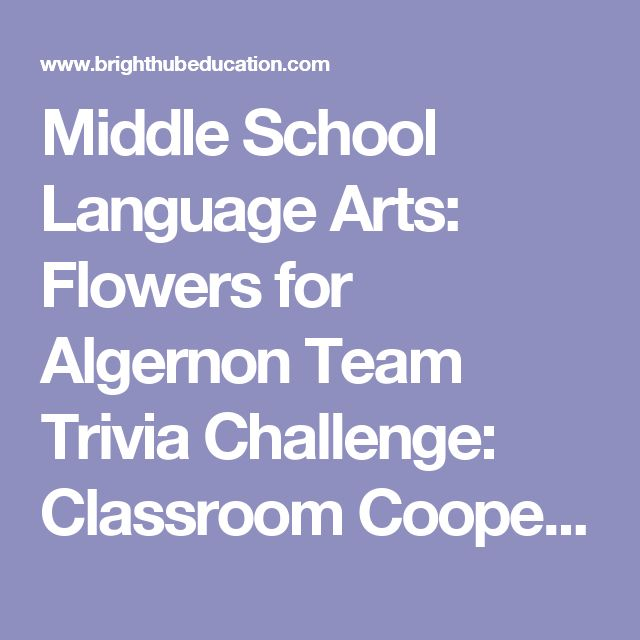 Middle School Language Arts: Flowers for Algernon Team Trivia Challenge: Classroom Cooperative Learning Game
