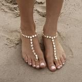 Boho, Gypsy and Crystal Beach Foot Jewelry   Barefoot Sandals at Body Kandy Couture