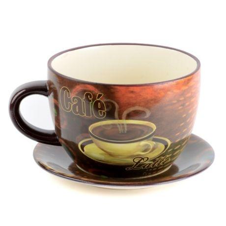 Ceramic Cafe Latte Teacup Planter | Kirkland's